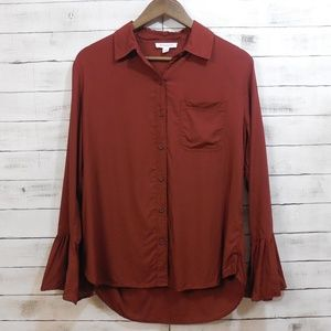 BeachLunchLounge | Bell SLeeve Button up